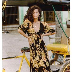Faithfull the Brand Oliviera Midi Dress NWT